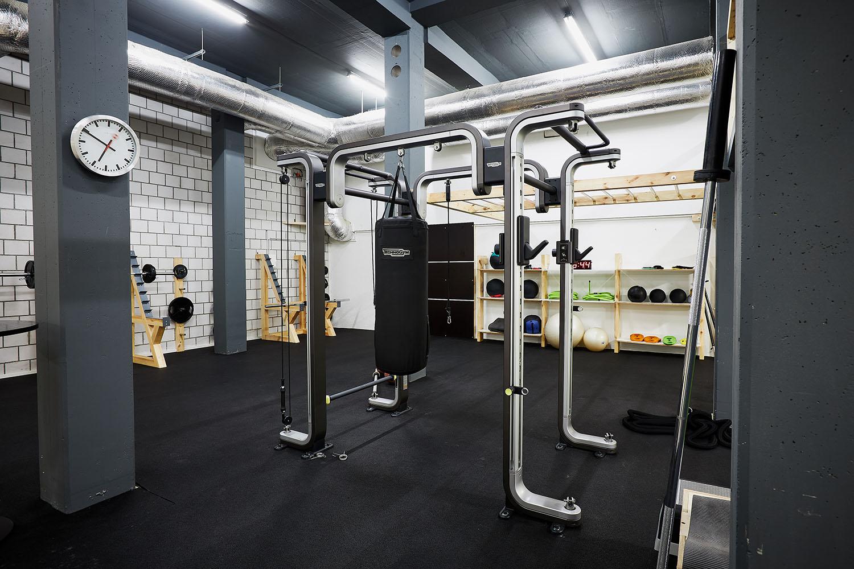 Cross-, Coretraining, Boxing, Technogym OMNIA, TRX, Free Motion Geräte